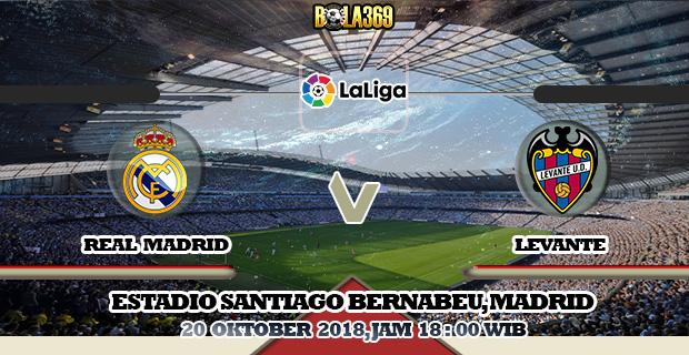 Prediksi skor Real Madrid Vs Levante 20 Oktober 2018
