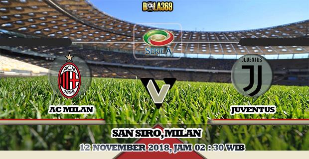 Prediksi AC Milan vs Juventus 12 November 2018