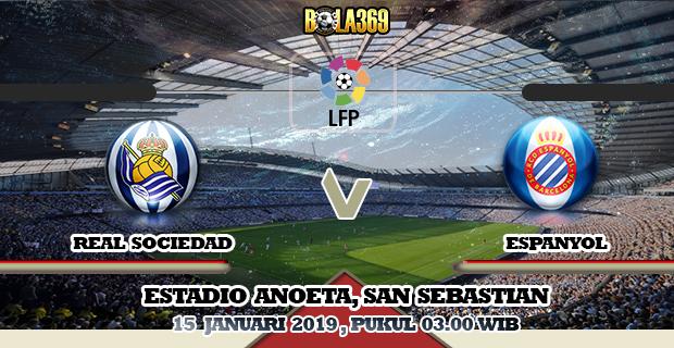 Prediksi skor Real Sociedad vs Espanyol 15 Januari 2019